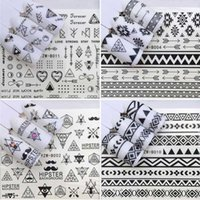 Wholesale cartoon nail art sticker for sale - Group buy Fashion Self adhesive Cool Nail Sticker Decals for Nail Art Decorations Black White Ins Bohemian Fake Nails Accessoires Finger Beauty Wraps