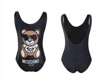 ingrosso animali donna sexy-Animal stampato nero Costumi da bagno Designer Brand Women Sexy One Piece Moda Estate Donna Luxury Beachwear di qualità