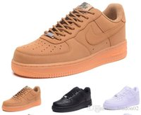 ingrosso scarpe aeree nere-nike air force 1 spedizione gratuita One 1 mens donna Flyline Sport Skateboard Scarpe High Low Cut Bianco Nero Outdoor Trainers Sneaker taglia 36-45