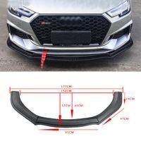 Wholesale bmw lip resale online - Carbon Fiber Look Black Universal Car Front Bumper Lip Chin Bumper Body Kits Splitter Diffuser For BMW Benz Audi For VW