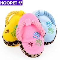 6e0b549c5 HOOPET Dogs Toy Pet Blue Puppy Chew Play Cute Plush Slipper Shape Squeaky  Supplies Soft Chewing Training Toys Pet Supplies