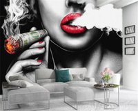 Custom Character 3d Wallpaper Smoking Sexy Beauty Romantic Beautiful Characters Atmospheric Interior Decoration Wallpapers