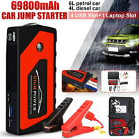 Wholesale 12v laptop car chargers resale online - High Quality mAh V Car Jump Starter Portable USB Power Bank Battery Booster Clamp A Power Battery Charger Mobile Phone Laptop Powe