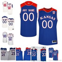 28738d7b482 2018 Hardwood Classics Kansas Jayhawks College Basketball  35 Udoka  Azubuike 2 Lagerald Vick 0 Marcus Garrett Custom Any Name Number Jersey