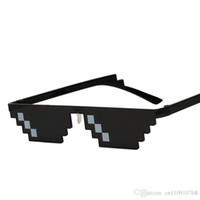 nariz do japão venda por atacado-HSH01 Único Mosaico Vintage Partido Óculos De Sol Dos Homens Cool Puls Tamanho 8 Bits Pixel Com Almofadas Nasais Óculos De Sol EYEWEAR 1 PIECE FRETE GRÁTIS GOTA