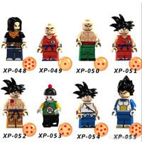 Wholesale goku toys resale online - 8pcs cm Dragon Balls Building Blocks Man Goku Vegeta Anime Character Model Toys for Children s Gifts