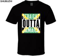 presentes rasta venda por atacado-Direto Outta Jamaica Rasta Jamaicano Orgulho T-Shirt Dos Homens T Presente Novo de Nós T Camisa de algodão Moda Impressão de Verão Tees sbz5603
