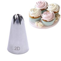 Wholesale icing nozzles sizes for sale - Group buy 2D big size DIY Cream Cake Icing Piping Nozzles Pastry Tips Fondant Cake Decorating Tip Stainless Steel Nozzle