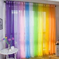 cortinas bufanda al por mayor-Colores Puerta Ventana Cortina Cortina Panel Bufanda Surtido Bufanda Pura Voile Cortinas coloridas calientes New2