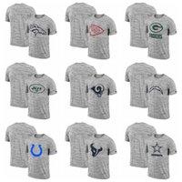ingrosso cowboy nero camicia xxl-Bengals Browns Cowboys Broncos Lions Packers Maglietta da uomo Heathered Black Sideline Legend Velocity T-Shirt da prestazione di viaggio