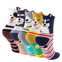ingrosso calzini da donna-Womens Girls Boys Divertente Cartoon Sweet Animal Design Carino Casual Cotton Novità Crew Socks 5/6 Packs-Idea regalo
