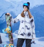 Wholesale women s snow ski clothing resale online - SNOW Ski Jacket Women Skiing Coat Winter Warm Waterproof Winderproof Ski Outdoor Camping Female Snow Coat Warm Thermal Snowboard Clothing