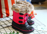 Wholesale russian snow boots for sale - Group buy Export Russian children s cotton boots girls high boots autumn and winter new plus velvet thickening non slip warm boys snow boo