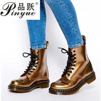 siyah kama platform ayak bileği botları toptan satış-35--43 Kış Kadınlar Bilek Biker Boots takozları Dikiş Kare Topuk PU Deri Lastik Platformu Casual Punk Siyah Bayanlar çizme