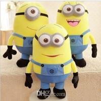 minion oyuncakları toptan satış-Despicable Me Film Peluş Oyuncak 18 cm Minion Jorge Stewart Dave Minions 3D gözler peluş oyuncaklar etiketleri ile ücretsiz kargo Ücr ...