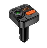 ingrosso cid telefono-BT82D Wireless 5.0 Trasmettitore FM per auto Bluetooth Modulatore FM Telefono Car Charge TF Lettore MP3 Accessori per auto Vivavoce