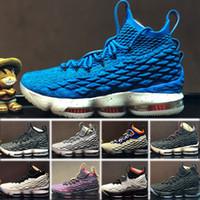 b2a3b5c9b8a8 Nike Lebron XV EP 15 2018 Nuove scarpe firmate 15 EQUALITY Nero Bianco moda  traspirante Scarpe da basket per uomo 15s Scarpe da ginnastica allenamento  ...