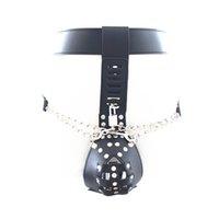 наручники мужского наручника оптовых-Мужской пояс целомудрия устройство черные трусики блокировки взрослых секс-игрушки для мужчин дополнительно анальные пробки наручники GN322402009