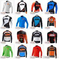casacos mountain bike venda por atacado-KTM Equipe de ciclismo de inverno lã quente de malha de mangas compridas jaqueta nova bicicleta ciclista mountain bike Roba Ciclismo roupas A42317
