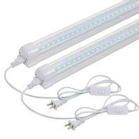 deckenleuchten schnüre groihandel-LED T8 V-Form Integrierte Einzel Fixture 2FT 2200lm 6500K Weiß 22W Utility-Shop-Licht-Decken und unter Kabinett-Licht Korden