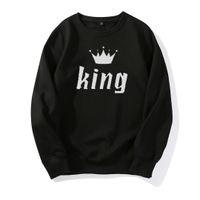 kapuzen-buchstaben s design großhandel-Luxus Hoodies Designer Hoodies König Königin Brief Herren Frauen Hoodies Design für Paare Tops Mode Lässig Mantel Sweatshirt Hohe Qualität
