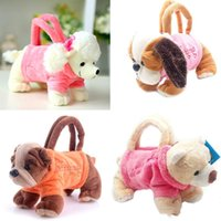 Wholesale handbags for dogs resale online - Year Gifts kids Handbags Plush Cartoon Dogs for Kids Coin Holder D Poodle Toys Schnauzer Toys for Children Girls