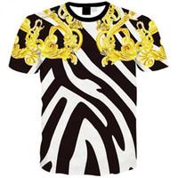 ingrosso stampa di galaxy per uomini-2018 New Fashion Space Galaxy T-shirt per uomo / donna 3d magliette Cartoon Print Animals Estate Tops Tees TX213