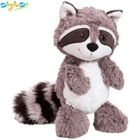Wholesale gifts for girls pillows resale online - Gray Raccoon Plush Toy Lovely Raccoon Cute Soft Stuffed Animals Doll Pillow for Girls Children Kids Baby Birthday Gift cm