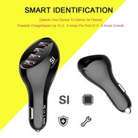 Wholesale phone components resale online - Car Phone Charger Smart Identify Technology USB10 Security Smart Car Fast Charger DC V Electronic Components