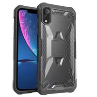 Wholesale defender case iphone 6s plus online – custom Robot PC Case for iPhone XS MAX XR Phone Protective shell TPU Shockproof Defender Cover Case for iPhone X Plus