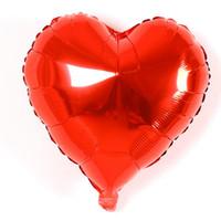 globos de aluminio en forma al por mayor-Hota Sale Love Heart Shape 18 pulgadas Foil Balloon Cumpleaños boda Año Nuevo Fiesta de graduación Decoración Globos de aire DH0358