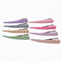 Wholesale acrylic clamps resale online - RE New Glitter Acrylic Horn Hair Clips Clamp Beauty Styling Accessories For Hair Women Girls Long Hairpins Barrette Hairclip H35