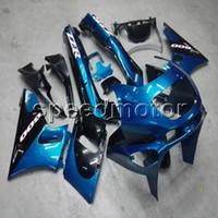 пластмассовые мотоциклы для kawasaki zzr оптовых-Винты + Подарки Формы для инъекций синий капот мотоцикла Обтекатель для Kawasaki ZZR400 1993-2007 ZZR 400 93 03 ABS пластик