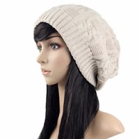 Wholesale oversized beanie resale online - Slouchy Cable Knit Beanie For Women Warm Oversized Slouch Winter Hats Thick Soft Stretch Knitted Caps for Cold Weather