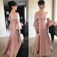 Wholesale noble gowns for sale - Group buy Vintage Noble Bateau Neck Plus Size Mother Formal Wear Dusty Pink Evening Party Wedding Guest Dress Mother Of The Bride Dress Suit Gowns
