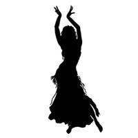 ingrosso accessori a medio oriente-Danza del ventre Danza danza Middle East Car Laptop Adesivo decalcomania della vettura Accessori auto Adesivo per auto