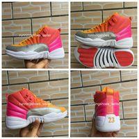 zapatillas de baloncesto rosa al por mayor-2019 nuevos zapatos de 12 GS caliente ponche de baloncesto del Mens de la alta calidad del corredor del rosa 12s 510815-601 Diseñador Sport zapatillas de deporte 40-47 Eur