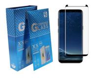 film galaksisi mega toptan satış-Temperli Cam 3D Kavisli Hiçbir Pop up Tam Kapak Ekran Koruyucu Samsung Galaxy Not için 9 S7 kenar S8 S9 S10 Artı S10E