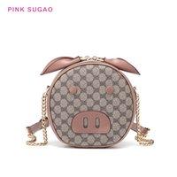 domuz omuz çantaları toptan satış-Pembe Sugao yeni stiller crossbody çantalar kadınlar tasarımcı domuz şekil sevimli omuz çantası küçük çantalar pu deri messenger çanta