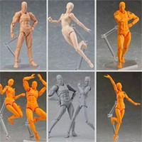 mulheres manequim venda por atacado-Figuras de Ação Da Pele Figma Artista Artista Homens e Mulheres Corpo Conjunto Manequim Bjd Collectible 20 hj F1