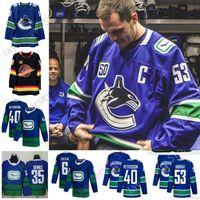 Wholesale sedin jersey resale online - 2019 Vancouver Canucks th Jersey Elias Pettersson Brock Boeser Bo Horvat Captain Thatcher Demko Henrik Daniel Sedin Blue White