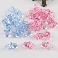 boncuk dekorasyon yılbaşı toptan satış-50 ADET Mini Plastik Emzikler Meme Boncuk Akrilik Gevşek Boncuk DIY Yapma Oyuncak Kek Dekorasyon Ewelry Takı Aksesuarları Noel Hediyesi