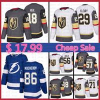 james neal jersey venda por atacado-Mens Vegas Golden Knights Hockey Jersey Marc-Andre Fleury James Neal Erik Haula William Karlsson Perron Tampa Bay Lightning Nikita Kucherov