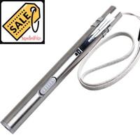 luzes médicas led venda por atacado-Médico Handy LED Mini Lanterna Caneta USB Aço Inoxidável Recarregável XML Torch Superbright Trabalho 13 cm Caneta Luz Frete Grátis CAR