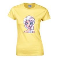 ingrosso camicie di cotone fresco-T-shirt da donna principessa teschio vintage anni '90 cool kawaii maglietta Harajuku marca divertente Tumblr rock top in cotone tees
