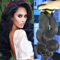 Wholesale good wavy hair weave for sale - Glamorous Good Quality Virgin Malaysian Human Hair Bundles Wavy Hair Extensions Raw Unprocessed Brazilian Indian Peruvian Remy Hair Weaves