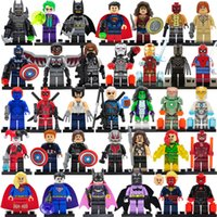 Wholesale blocks bricks toy for sale - Group buy 8pcs Marvel DC Super minifigs Series action figures building blocks The Avengers figures DIY Children Bricks Toys Gift Collection