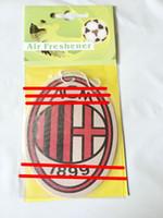 команда milan оптовых-1шт Ac Milan футбольная команда Логотип команды освежитель воздуха автомобиля любимый Подходит для, автомобиля и т. Д. Освежитель воздуха футбольный мяч ACM 1899
