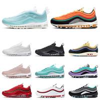zapatillas nuevas al por mayor-nike air max 97 classic 97 shoes Mens women Running Shoes Negro Rojo Blanco Trainer Cojín Superficie Respirable Deportes zapatillas de deporte tamaño 36-45