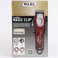 les coiffeurs achat en gros de-WAHL 8148 Cordon professionnel sans fil magique clip 8148 Grand Barbers et Stylistes de précision sans fil Fade Clipper Loaded Tondeuse à cheveux